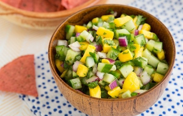 cucumber mango salsa | Island Real Estate
