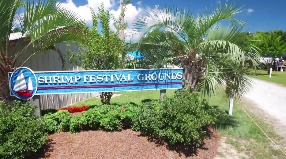 Sneads Ferry Shrimp Festival Grounds sign | Island Real Estate