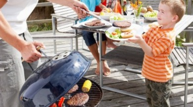 family grilling | Island Real Estate