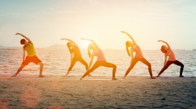 surf city beach yoga | Island Real Estate