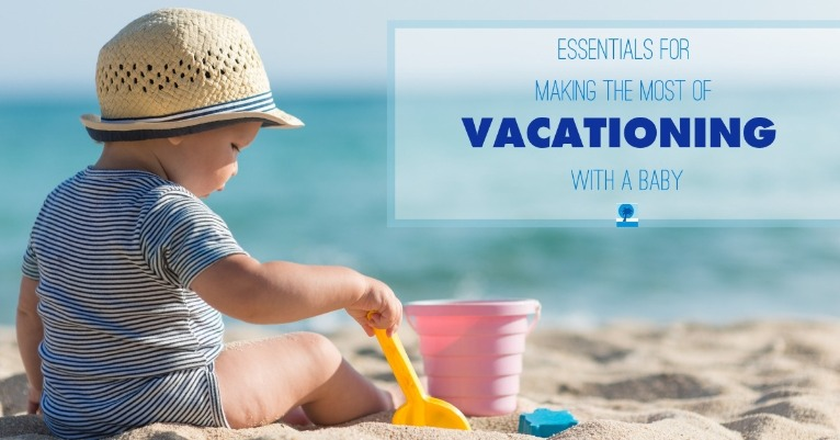 baby playing on the beach | Island Real Estate