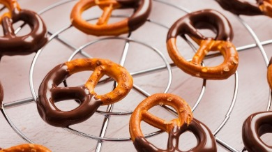 chocolate-cover pretzels | Island Real Estate