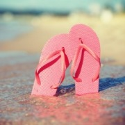 flip flops on the beach | Island Real Estate