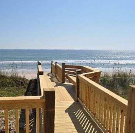 beach access from one of Island Real Estate's rentals | Island Real Estate
