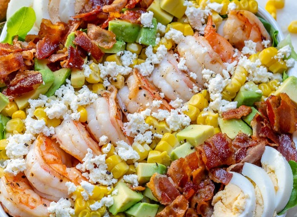 shrimp cobb salad | Island Real Estate