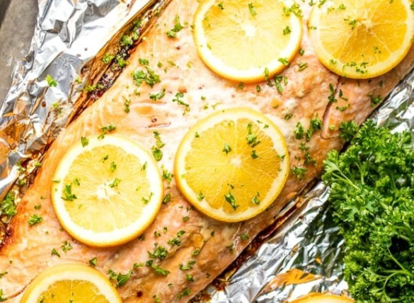grilled salmon with homemade marinade | Island Real Estate