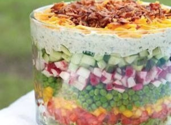 seven layer salad | Island Real Estate