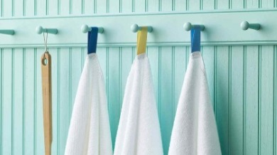 towels with hanging tags | Island Real Estate